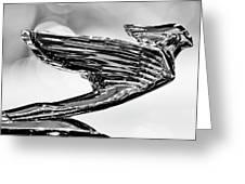 1938 Cadillac V-16 Hood Ornament 2 Greeting Card