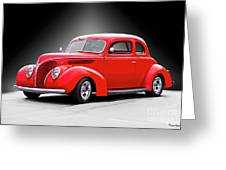 1938 Ford Five-window Coupe II Greeting Card