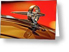 1947 Buick Roadmaster Hood Ornament Greeting Card