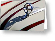 1949 Custom Buick Hood Ornament Greeting Card