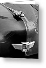 1949 Studebaker Champion Hood Ornament Greeting Card