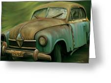 1950's Vintage Borgward Hansa Sports Coupe Car Greeting Card