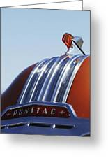 1952 Pontiac Tin Woodie Wagon Hood Ornament Greeting Card