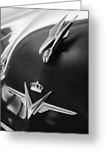 1954 Chrysler Imperial Sedan Hood Ornament 3 Greeting Card