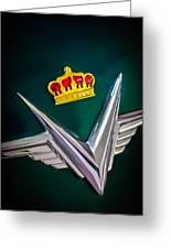 1954 Chrysler Imperial Sedan Hood Ornament Greeting Card