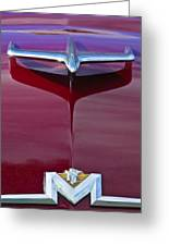 1956 Mercury Hood Ornament Greeting Card