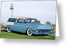 1956 Chevrolet Bel Air Nomad Wagon Greeting Card