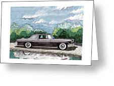 1956  Lincoln Continental Mk II Greeting Card