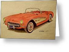 1957 Corvette Greeting Card