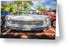 1959 Lincoln Continental Town Car Mk Iv Painted  Greeting Card