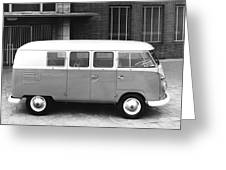 1960 Volkswagon Microbus Greeting Card