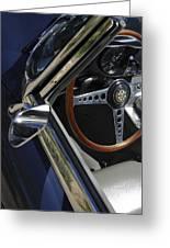 1963 Jaguar Xke Roadster Steering Wheel Greeting Card