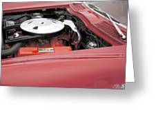 1963 Red Corvette Greeting Card