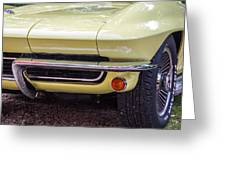 1965 Yellow Sting Ray Front Bumper Greeting Card