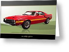 1969 Shelby V8 Gt350  Greeting Card