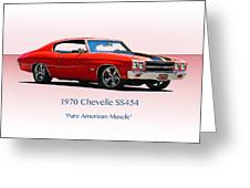 1970 Chevelle Ss454 Greeting Card