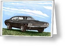 1970 Dodge Challenger Greeting Card