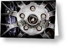 1997 Lamborghini Diablo Roadster  Wheel Emblem -1303ac Greeting Card