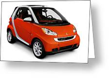 2008 Smart Fortwo City Car Greeting Card