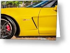 2013 Chevrolet Corvette Zo6 Painted Bw  Greeting Card