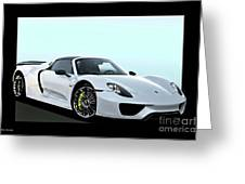 2014 Porsche 918 Spyder II Greeting Card