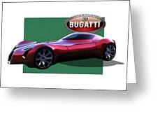 2025 Bugatti Aerolithe Concept With 3 D Badge  Greeting Card