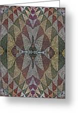 21970. Mosaic Rhythm Of Roman Baths. Greeting Card