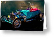 23 T Hot Rod In The Sky Greeting Card