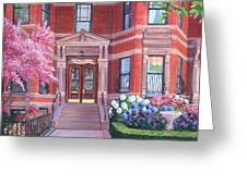 238 Marlborough Street Greeting Card