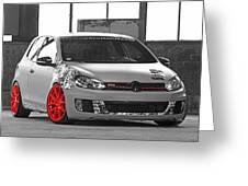 246062 Car Golf Gti Volkswagen Golf Vi Wheels Greeting Card