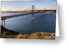 25th Of April Suspension Bridge In Lisbon Greeting Card