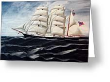 3 Master Tall Ship Greeting Card