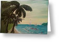 3 Palms Greeting Card