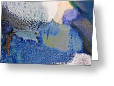 43. Blue Purple White Glaze Painting Greeting Card