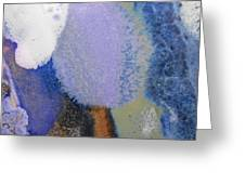 44. Blue Purple White Glaze Painting Greeting Card