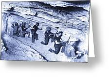 500-feet Level Sulphate Stope Tombstone Consolidated Mine 1904-2013 Greeting Card