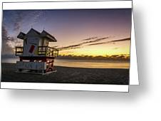 7901- Miami Beach Sunrise  Greeting Card