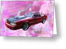 93 Mustang Greeting Card