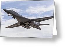 A B-1b Lancer Of The U.s. Air Force Greeting Card