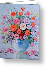 A Bouquet Of Flowers Greeting Card