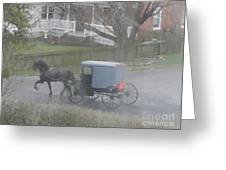 A Buggy Passes By Greeting Card