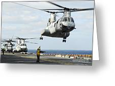 A Ch-46e Sea Knight Helicopter Takes Greeting Card