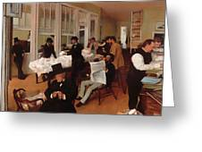 A Cotton Office In New Orleans Greeting Card