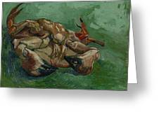 A Crab On Its Back Paris, August-september 1887 Vincent Van Gogh 1853 - 1890 Greeting Card