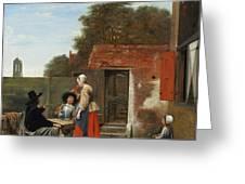 A Dutch Courtyard Greeting Card