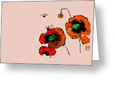 A Few Poppies Greeting Card