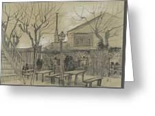 A Guinguette Paris, February - March 1887 Vincent Van Gogh 1853 - 1890 Greeting Card