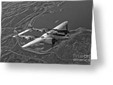 A Lockheed P-38 Lightning Fighter Greeting Card