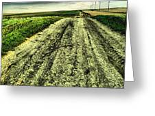 A Long Gravel Road Greeting Card