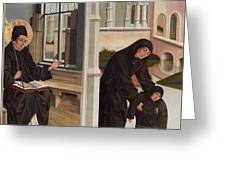 A Miracle Of Saint Benedict Greeting Card